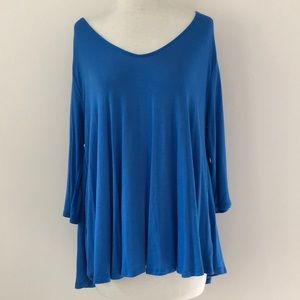 Lush Slouchy Wide Neck LS Top